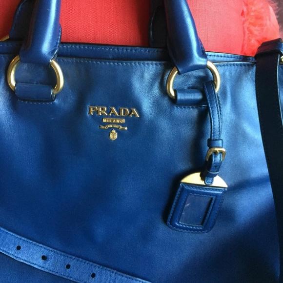 4dbf8b8fae91 Prada Bags | Vitello Daino Bn1713 Large 2way Dark Blue Tote | Poshmark